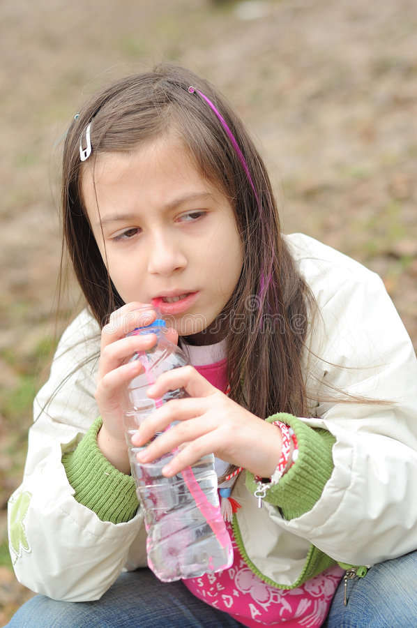 Download Girl Drinking Mineral Water Stock Image - Image: 4493035