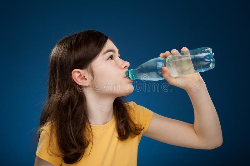 Download Girl drinking water stock image. Image of health, close - 16190551