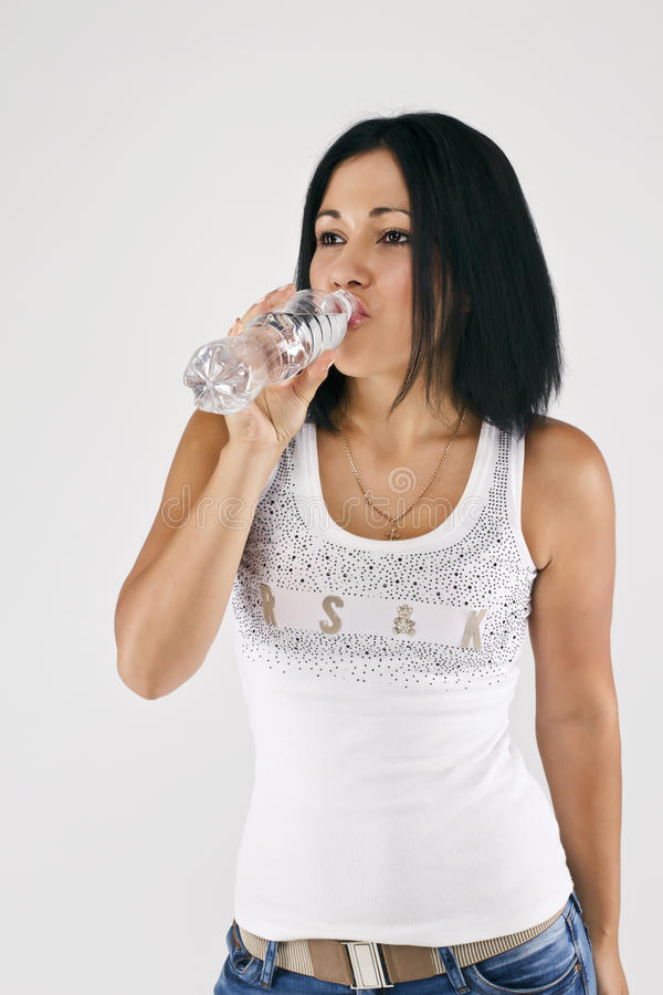 Download A Girl Drinks Water. Royalty Free Stock Photography - Image: 25862587