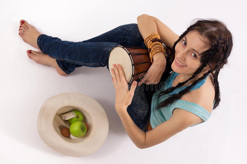 Download Girl With Drum Royalty Free Stock Image - Image: 17896336
