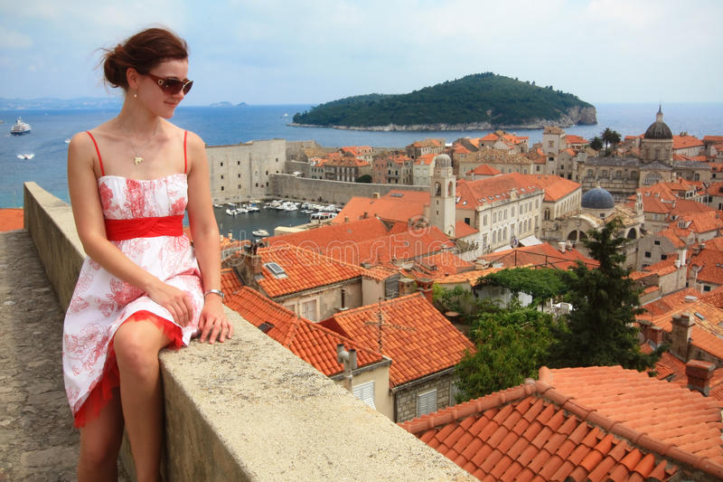 Download Girl in Dubrovnik stock image. Image of adriatic, mountain - 19891573