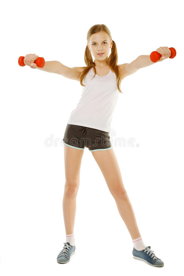 Download Girl With Dumbbells Stock Photos - Image: 23430593