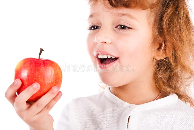 Download Girl eating apple stock photo. Image of cute, caucasian - 21981962
