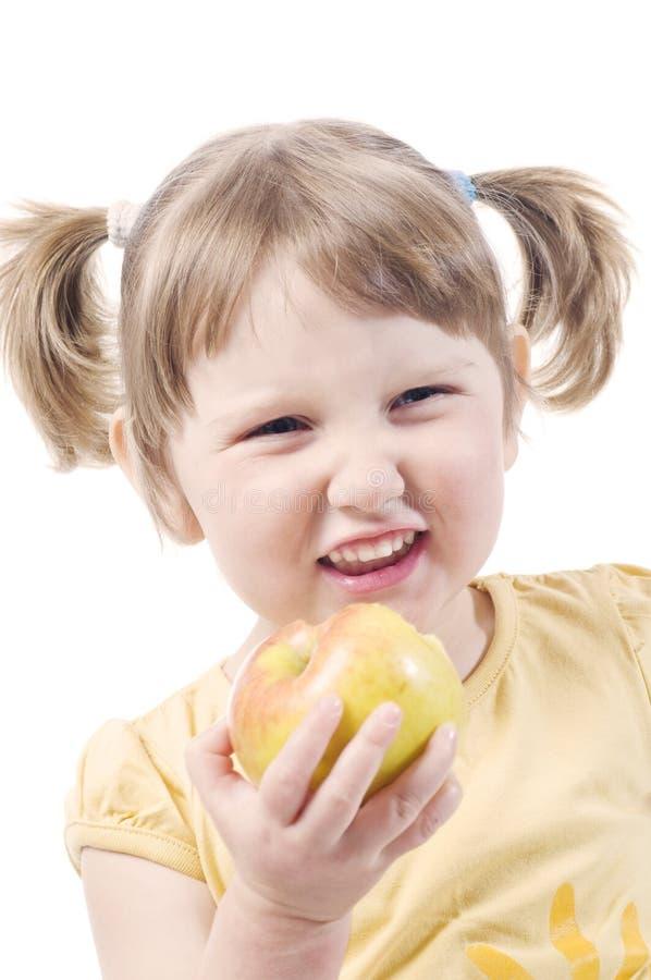 Download Girl eating apple stock image. Image of posing, child - 9085613