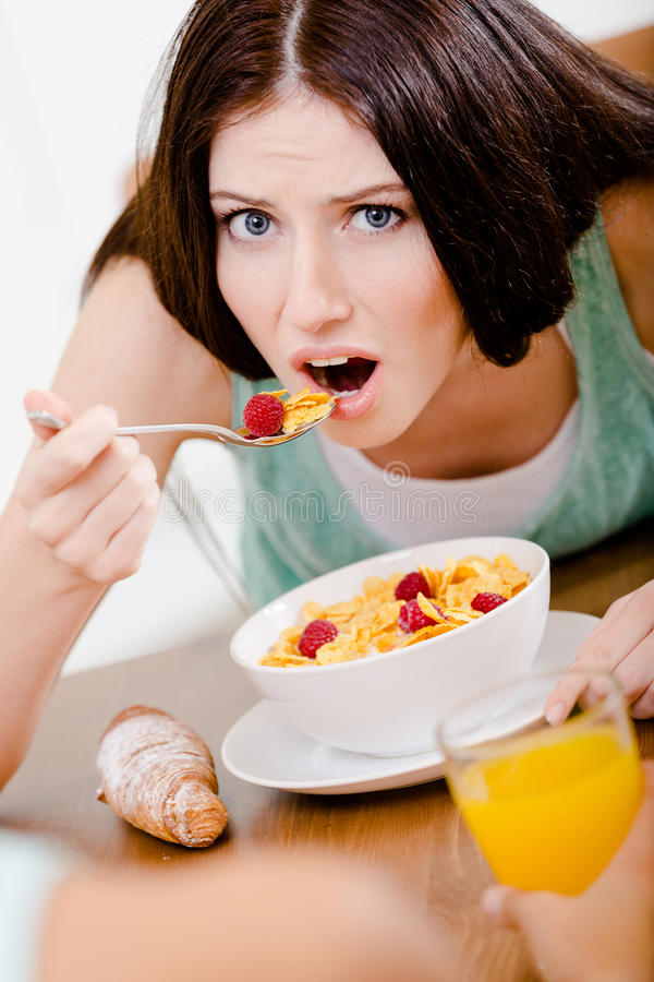 Download Girl Eating Dieting Breakfast Stock Image - Image: 33408601