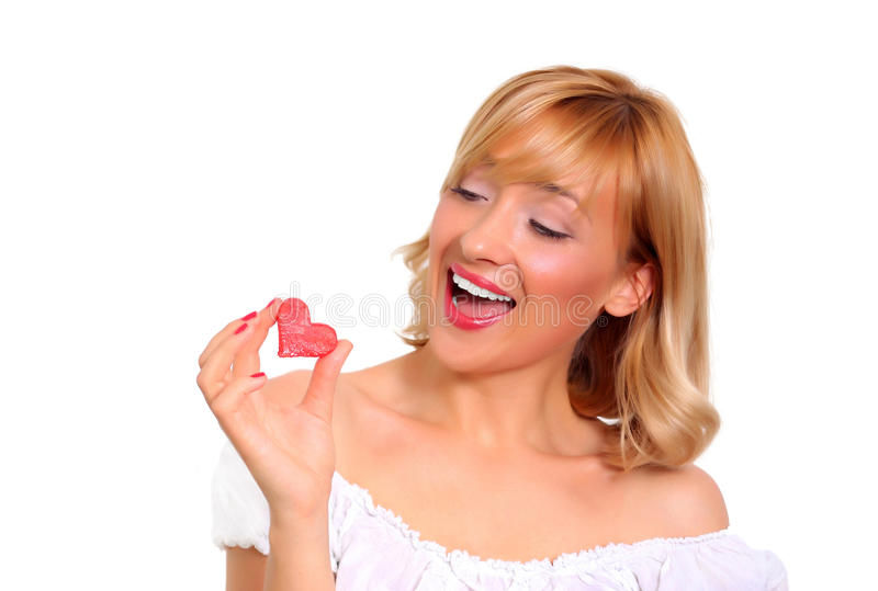 Girl Eating Watermelon Royalty Free Stock Images