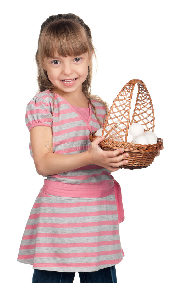 Download Girl with eggs stock photo. Image of easter, event, celebration - 22905528