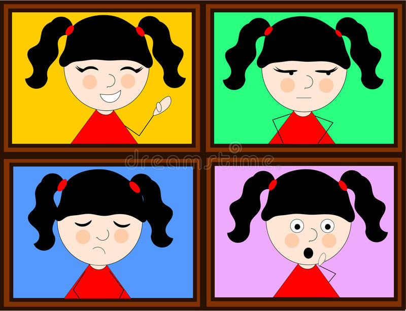 Girl and emotions stock image