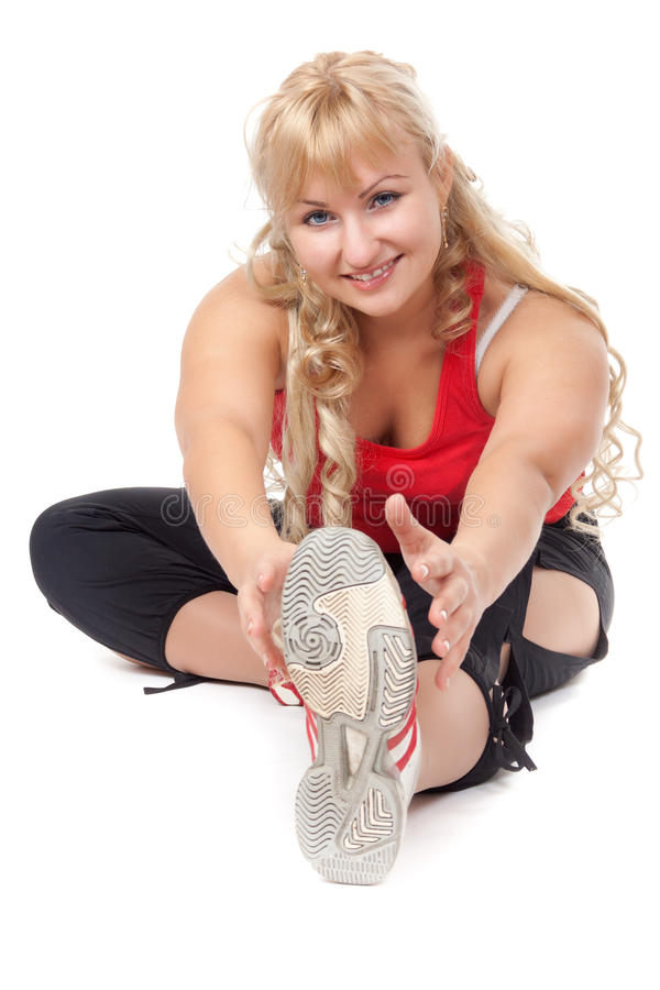 Download The Girl Is Engaged In Fitness Stock Image - Image: 26485573
