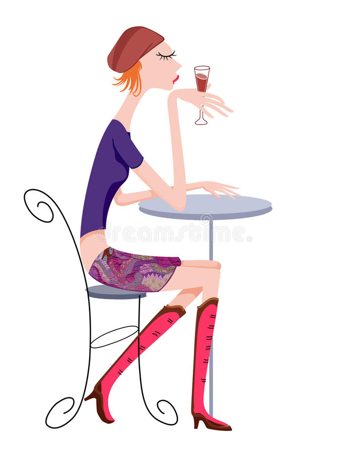 Download Girl enjoy stock illustration. Image of creative, character - 17553470