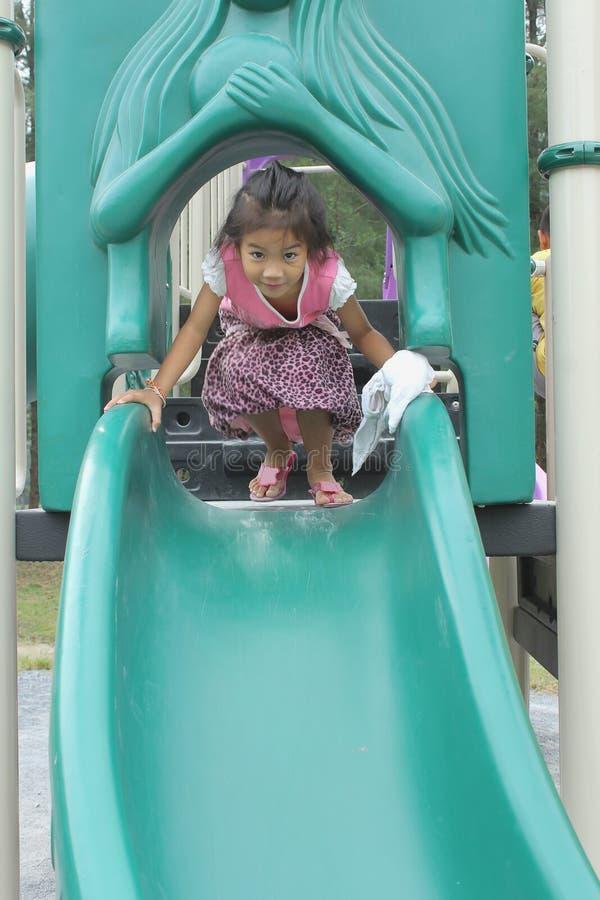 Girl Enjoy Playground royalty free stock photography