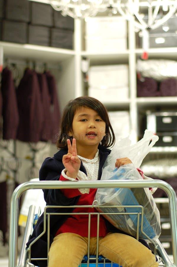 Girl Enjoy Shopping royalty free stock photography