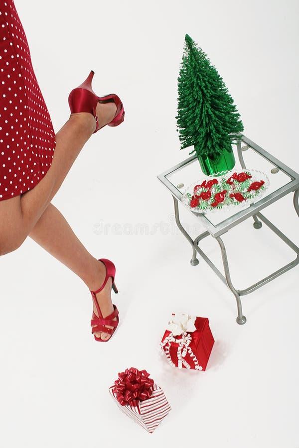 Girl enjoying Christmas royalty free stock photo