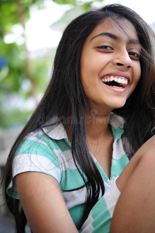 Download Girl enjoying outdoors stock image. Image of confident - 14104775