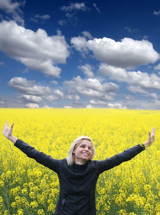 Download Girl enjoys stock photo. Image of beautiful, freedom - 10025886