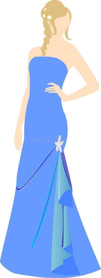 Girl in evening dress stock photos