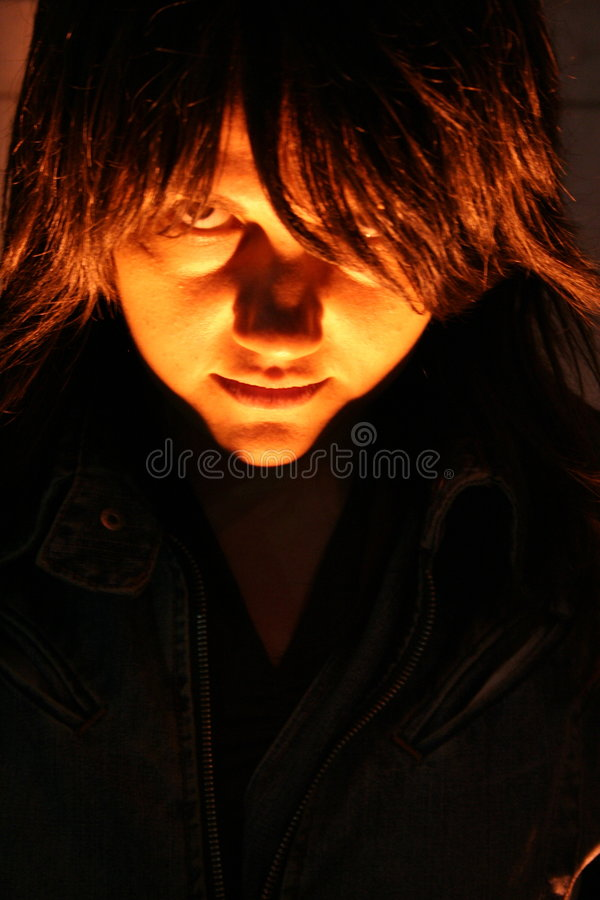 Download Girl Evil Face Stock Photo - Image: 6052360