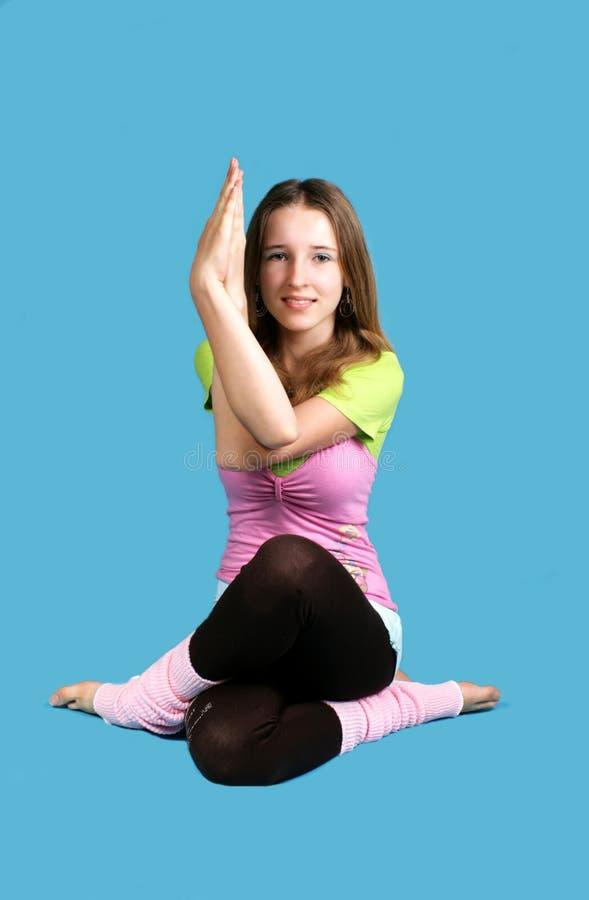 Girl Exercises Yoga Royalty Free Stock Photo
