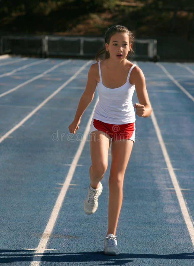 Girl exercising royalty free stock photography