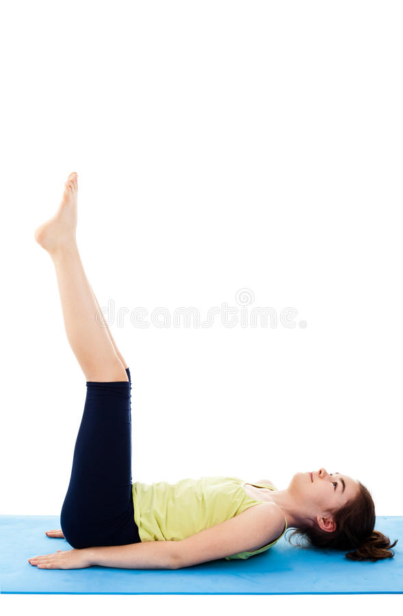 Girl exercising royalty free stock images