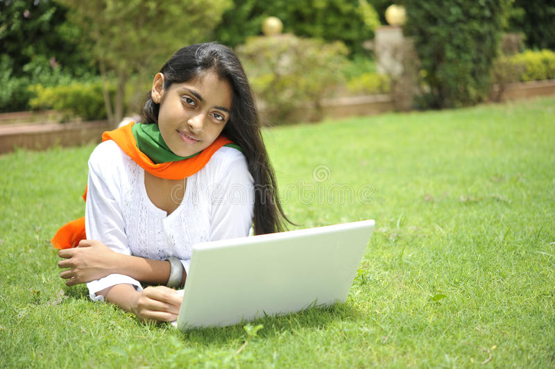 Girl Expressing Freedom Stock Images