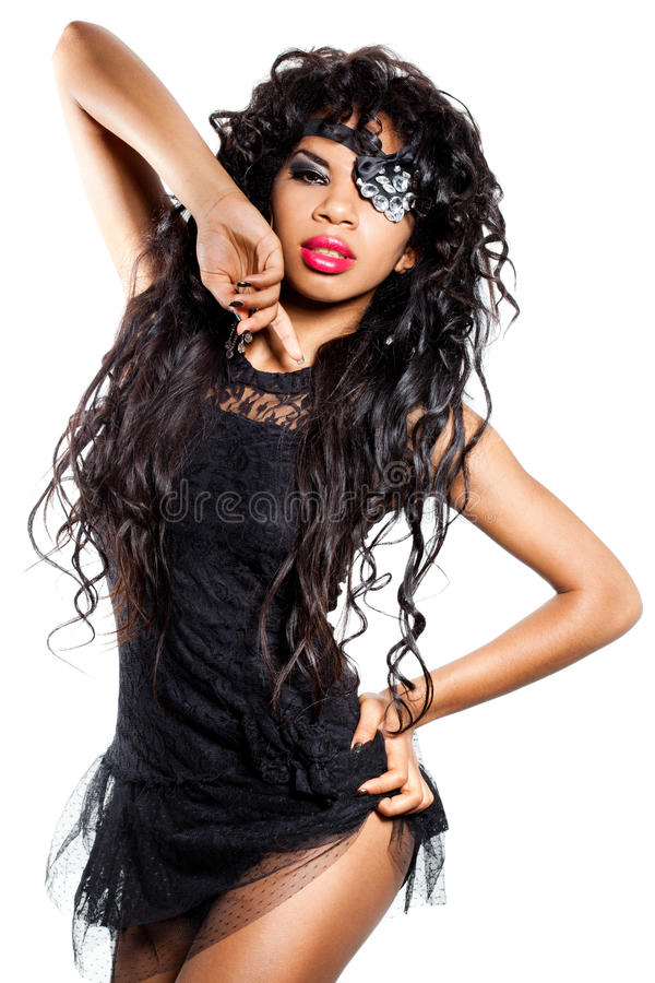 Download Girl with eye patch stock photo. Image of hand, hairstyle - 16057192