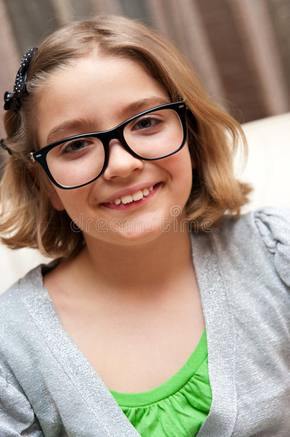 Download Girl with eyeglasses stock image. Image of pretty, smile - 13419347