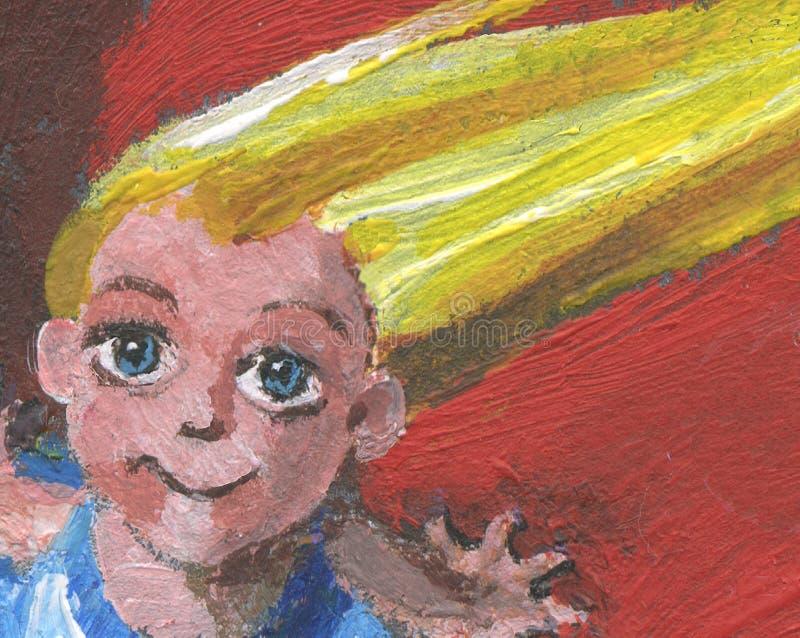 Download Girl face stock illustration. Illustration of hand, portrait - 11879669