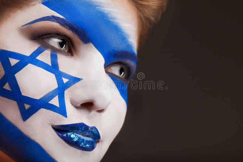 Israel Flag Face Paint