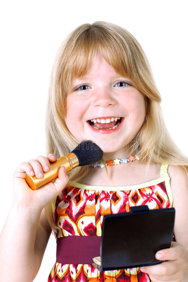 Download Girl with face brush stock image. Image of health, brush - 23360519