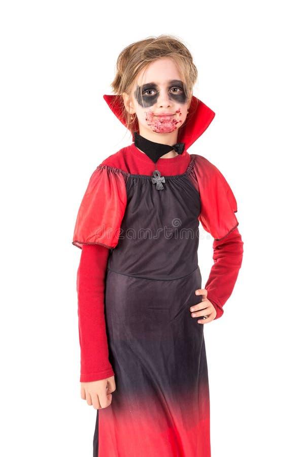 Kid in Halloween costume royalty free stock image