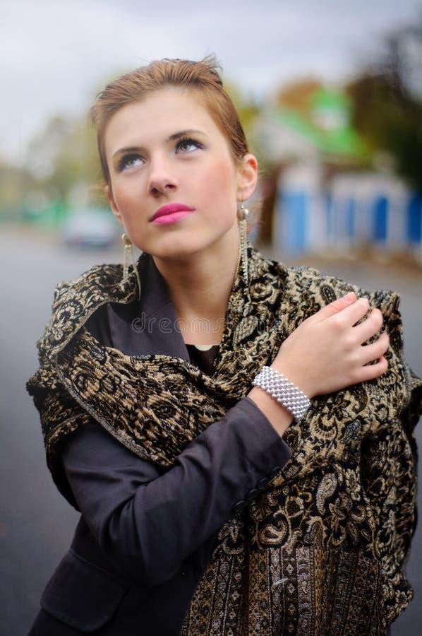 Girl In The Fall Season Stock Photography