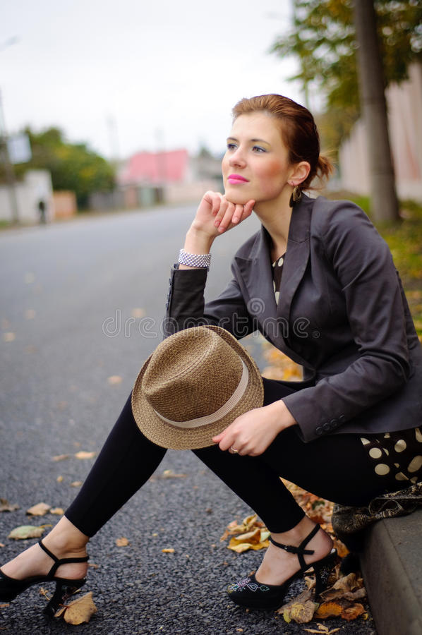 Download Girl in the fall season stock image. Image of nature - 22643949