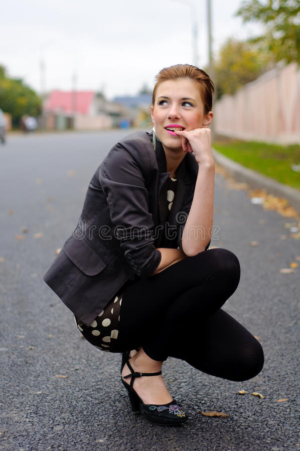 Girl In The Fall Season Royalty Free Stock Images