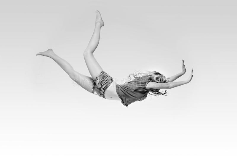 Download Girl Falling Into The Light. Stock Photo - Image: 22836020