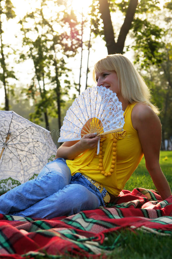 Download Girl With A Fan Stock Photography - Image: 16745572