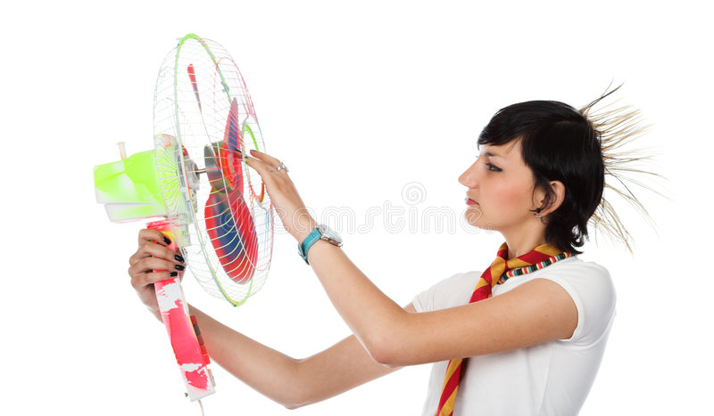Download The Girl With The Fan Stock Photos - Image: 4663823