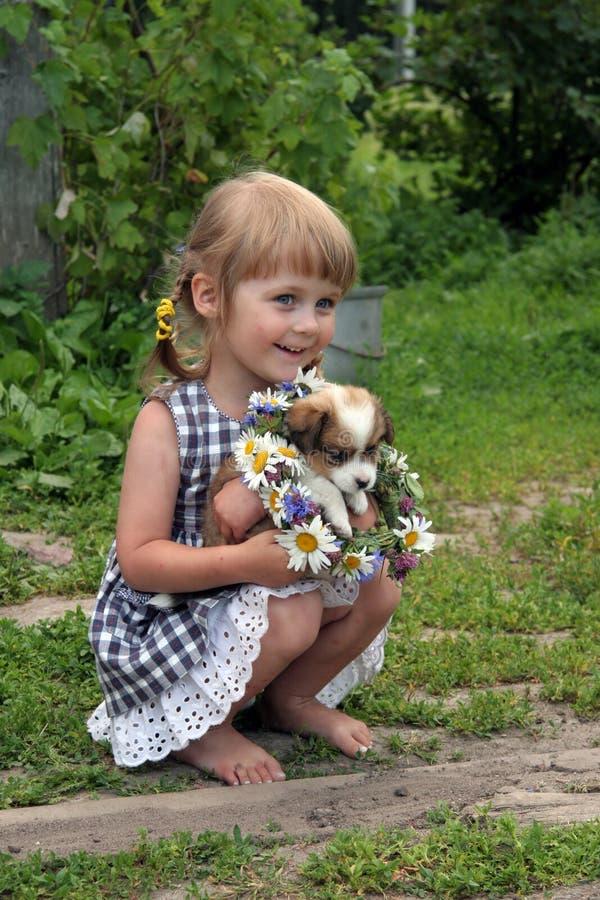 Girl in farm royalty free stock photo