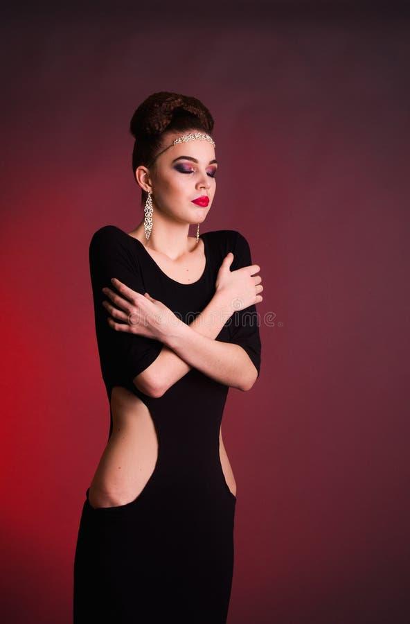 Girl fashion shoot in the studio royalty free stock photos