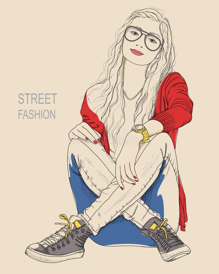 Girl fashion royalty free illustration