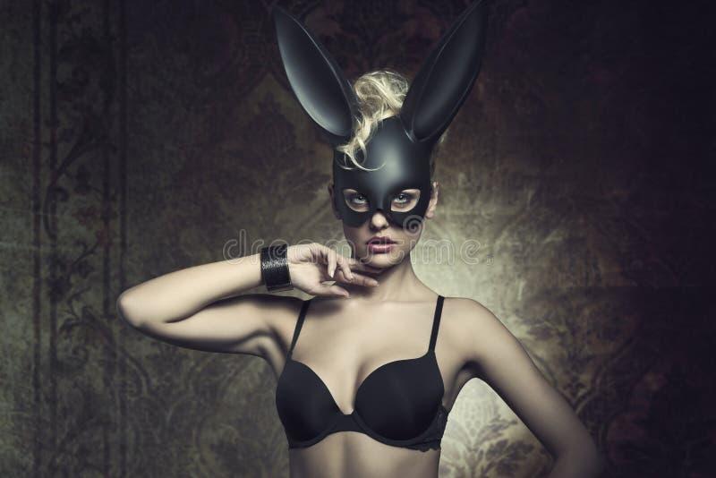 Girl With Fetish Bunny Mask Stock Image Image 50568687
