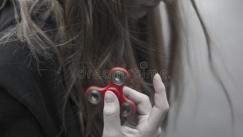 Girl With Fidget Spinner Free Public Domain Cc0 Image