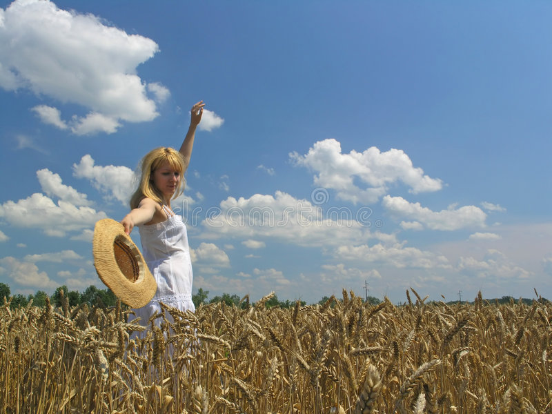 Download Girl in field stock photo. Image of mood, lady, organic - 1006684
