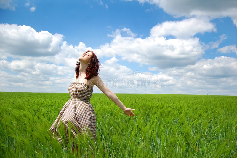 Download Girl At Field Stock Image - Image: 11774051