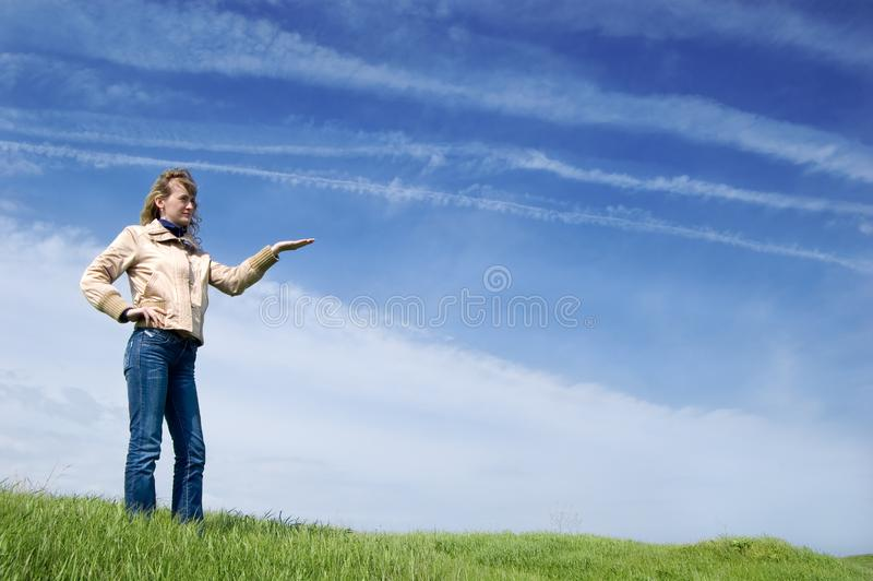 Download Girl in the field stock image. Image of girl, rest, holiday - 6570391