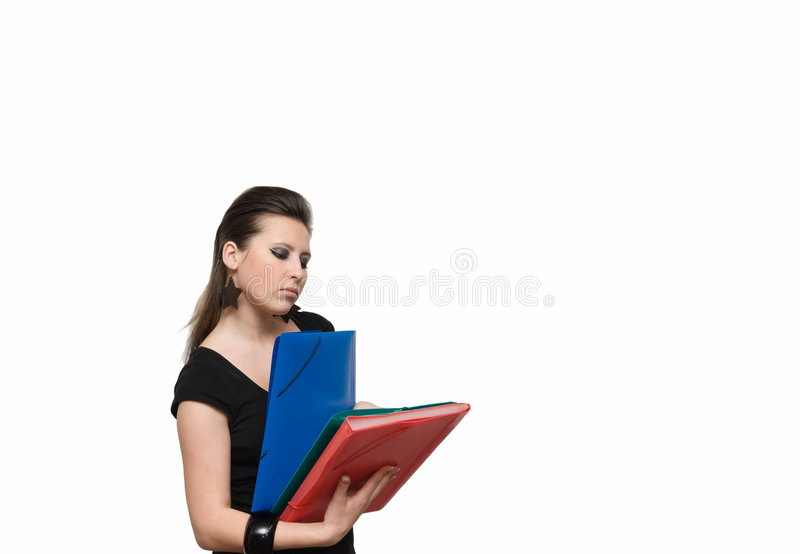 Download Girl with file stock image. Image of professional, office - 7185545