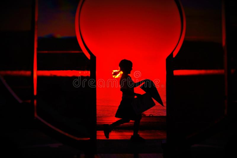 Girl on fire royalty free stock photos