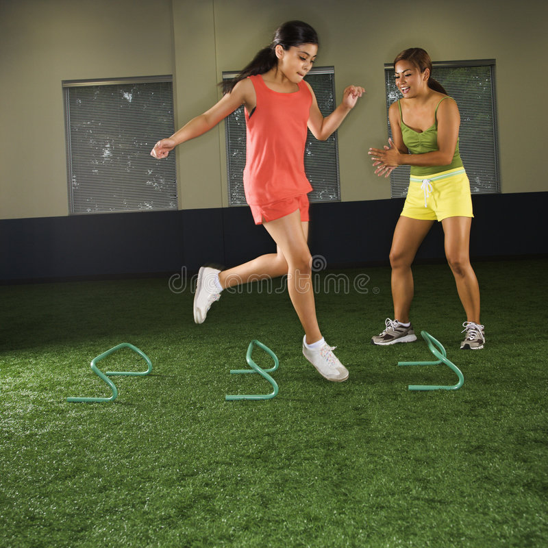 Girl fitness training. royalty free stock photography