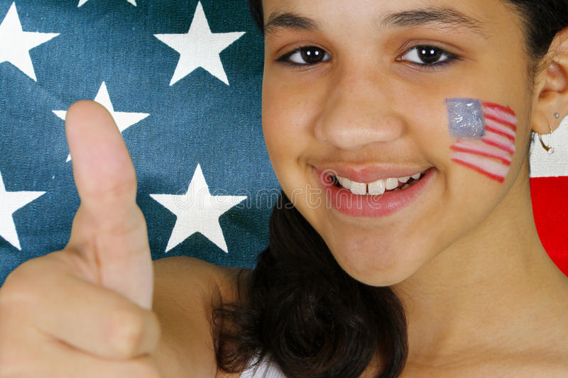 Download Girl With Flag stock photo. Image of minority, july, girl - 24919016