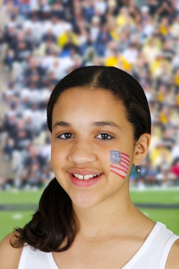 Girl With Flag stock image